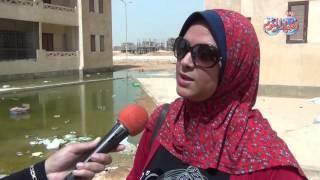 معاناة سكان الحى 11 بأكتوبر بسبب الصرف الصحي
