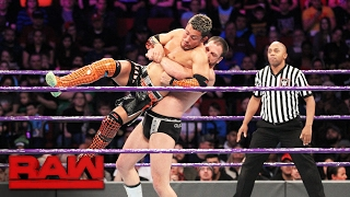 In his Raw debut, Akira Tozawa battles the formidable Drew Gulak in...