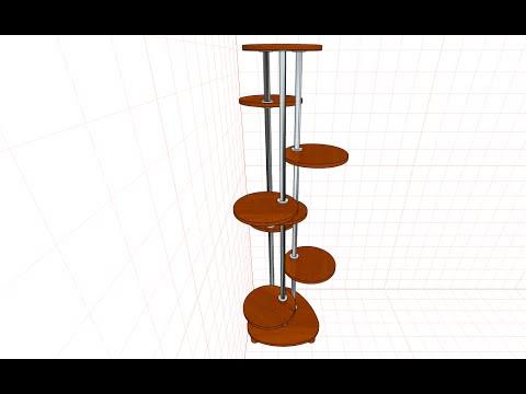 видео: Как сделать подставку для цветов. Распечатка шаблонов из программы pro100