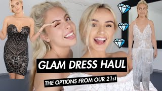 GLAAAM AF DRESS HAUL | PROM/PARTY IDEAS! | SYD AND ELL