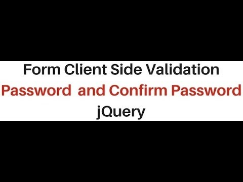 jquery 2.1.1 password and confirm password client side validation