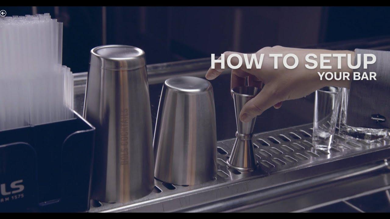 how to set up a cocktail bar bols bartending academy youtube. Black Bedroom Furniture Sets. Home Design Ideas