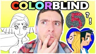 COLORBLIND ARTIST - Taking a Color blind Test & Art Challenge!!