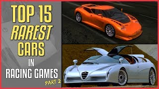 15 RAREST CARS in Racing Game History #2 (15 Exclusive Cars in NFS, GT, Forza...)