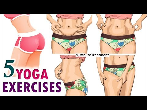 5 Yoga Exercises To Lose Weight At Home | Fat Burning Workouts | 5-Minute Treatment