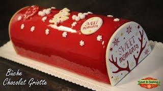 ❅ Recette de Bûche de Noël Chocolat au Lait Griotte ❅