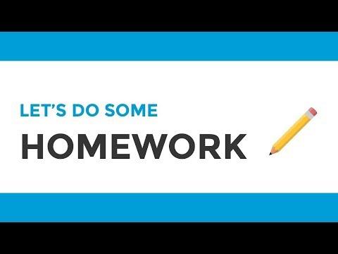 Let's Do Some Homework