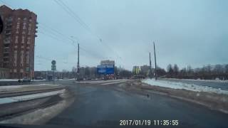 Авария на  улице Добровольцев 19 января 2017 г