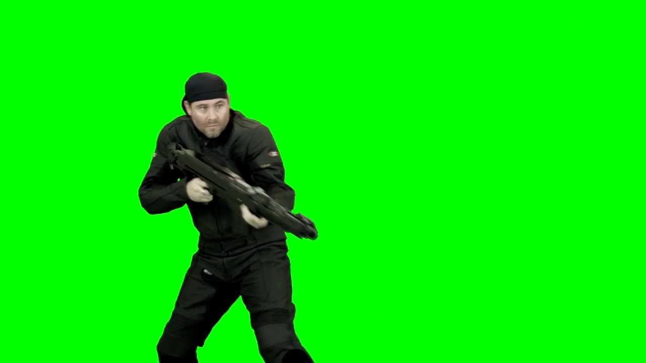 how to put videos on a green screen