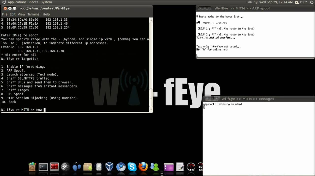 How to sniff messages from instant messengers using Wi-fEye