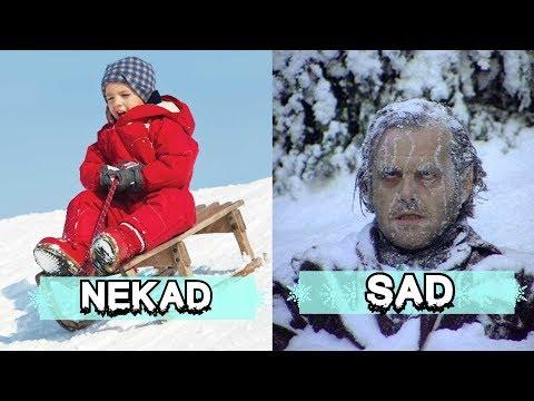 PRVI SNEG - U detinjstvu VS Sada!