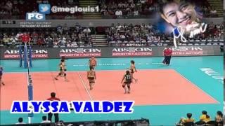 ウィングスパイカー Alyssa Valdez vs España Blvd, Manila, 1008 Metro Manila 😄