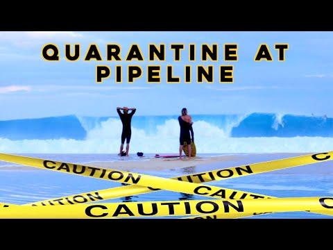 QUARANTINE AT PIPELINE - Koa & Travis Score Late Season Pipe