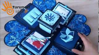 Explosion box, new year gift, sevgiliye hediye, love gift, Patlayan kutu, Turunçel işleri