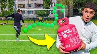 1€ PLASTIKBALL HELIUM FUßBALL CHALLENGE !