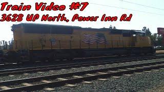 UP train going through Power Inn Road in East Sacramento