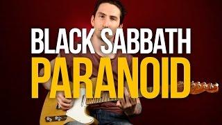 Как играть на гитаре Black Sabbath Paranoid - Уроки игры на гитаре Первый Лад