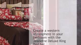 Jeanette Deluxe Bed Set - King - lonestarwesterndecor.com