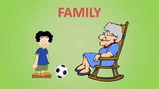 Английский для детей. Учим слова. Семья
