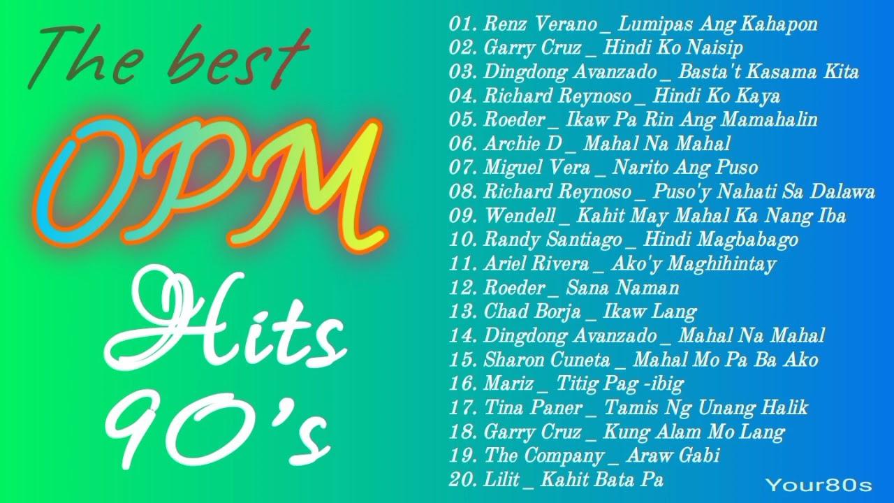 Musikang Pinoy Dekada 90 l BEST OF OPM HITS 90s