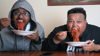 Extreme Korean Spicy Noodles Challenge!!
