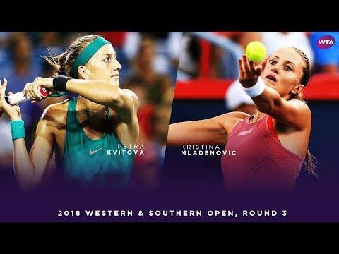 Petra Kvitova vs. Kristina Mladenovic | Western & Southern Open Round 3 | WTA Highlights