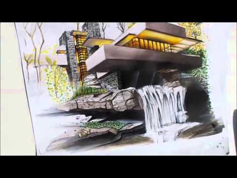 Tutorial casa de la cascada youtube for Pintura exterior para casas modernas