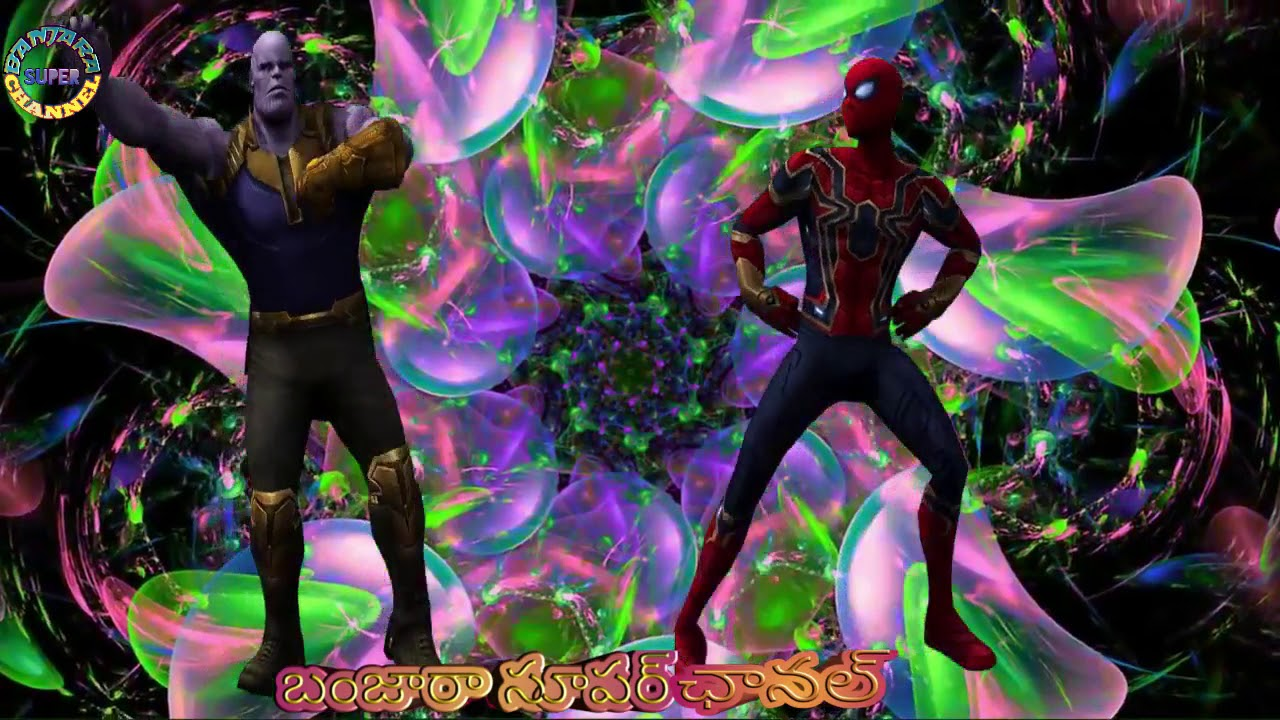 Spider-Man and thanos super dancing green video Editing by ...