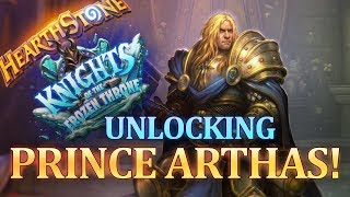 Unlocking Prince Arthas with Paladin! Final Lich King Battle of HearthStone