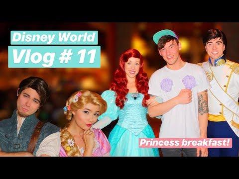 Disney World Vlog 2018   11   Princess Breakfast with Ariel & Rapunzel & 50's Prime Time Cafe
