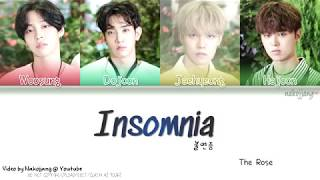 THE ROSE (더 로즈) – 불면증 (INSOMNIA) (Color Coded Lyrics Eng/Rom/Han/가사)