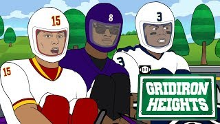 Download Russell WiIson, Lamar Jackson Battle for MVP Go-Kart Style | Gridiron Heights S4E13 Mp3 and Videos