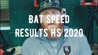 Bat Speed Results HS 2020 | Bat Speed Recon