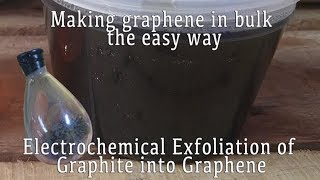 Making Graphene in Bulk the Easy Way: Electrochemical Exfoliation of Graphite