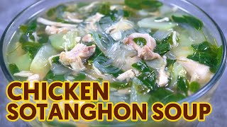Chicken Sotanghon Soup with Malunggay at Sayote