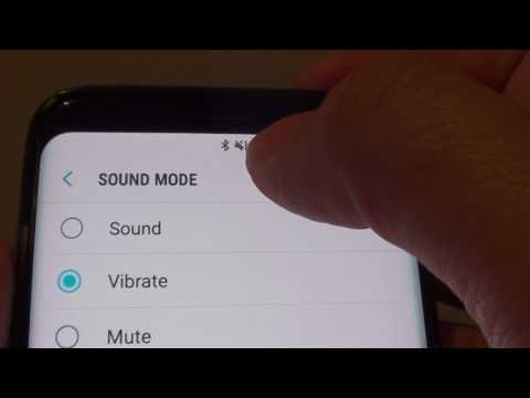 Samsung Galaxy S8: How to Change Sound Mode to Sound / Vibrate / Mute