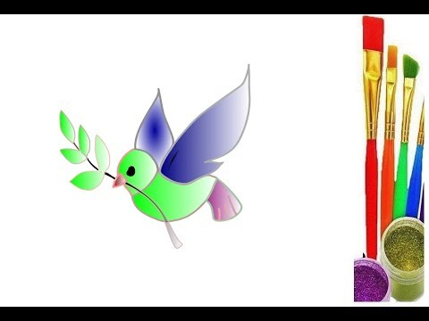 Flying Birds Drawing Painting For Kids Learn Color Amazing Toys Drawing Youtube