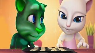 Говорящая Анджела и говорящий Кот Том(9)Мультик игра для детей.Детский канал.talking tom and angela.