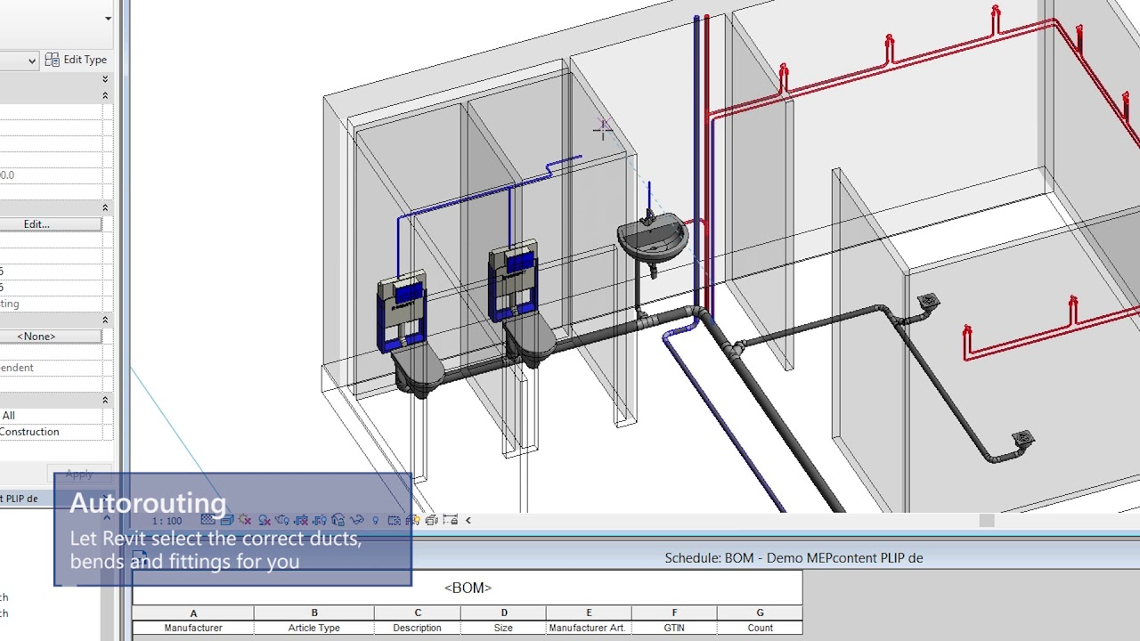 Easily design piping systems in Revit from 7 leading manufacturers