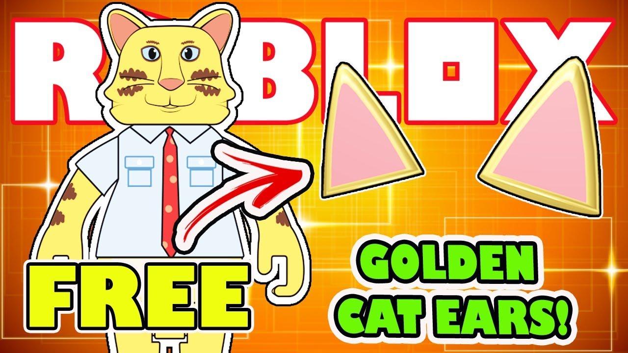 Win Free Golden Cat Ears Virtual Item In Roblox Celebrity