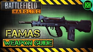 battlefield hardline famas review gameplay best gun setup   weapon guide bfh