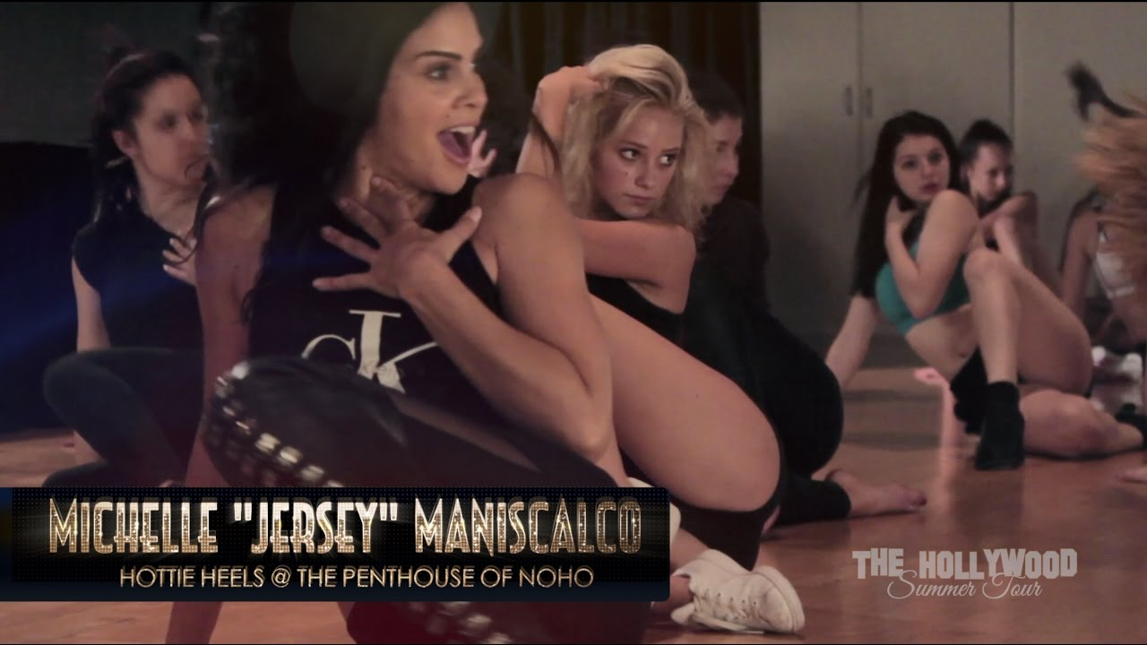 """Michelle """"Jersey"""" Maniscalco - HOTTIE HEELS class at at The Penthouse of Noho"""