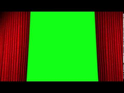 Stage cinema curtain opening green Screen V1