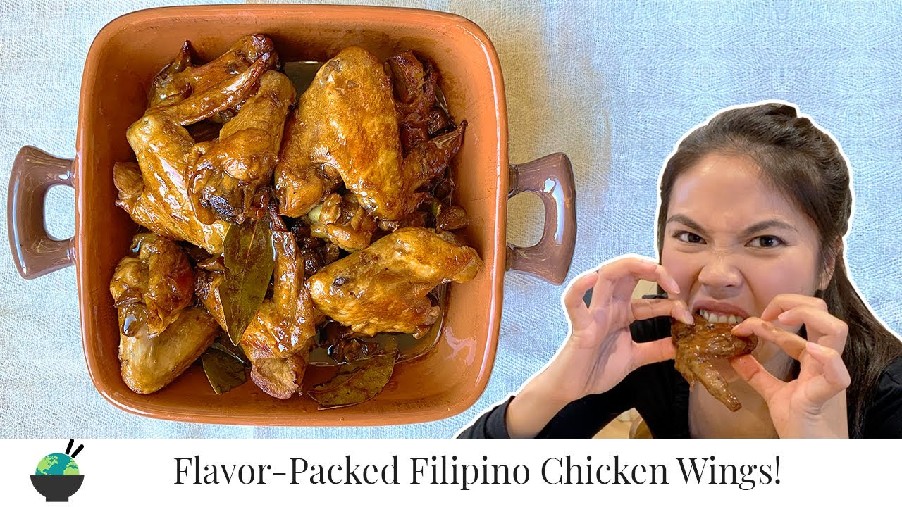 Adobo Wings Sa Gata (In Coconut Milk)