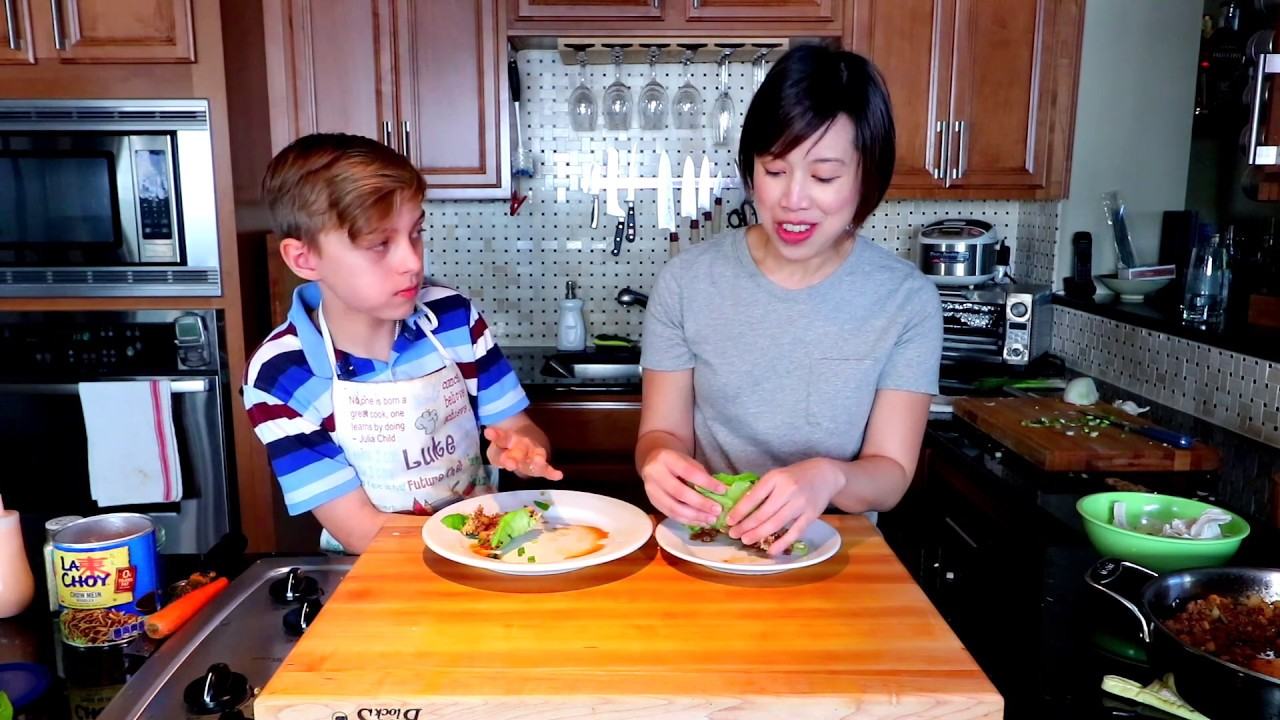 Christine Ha Tries Cooking With 12 Year Old Luke Haas