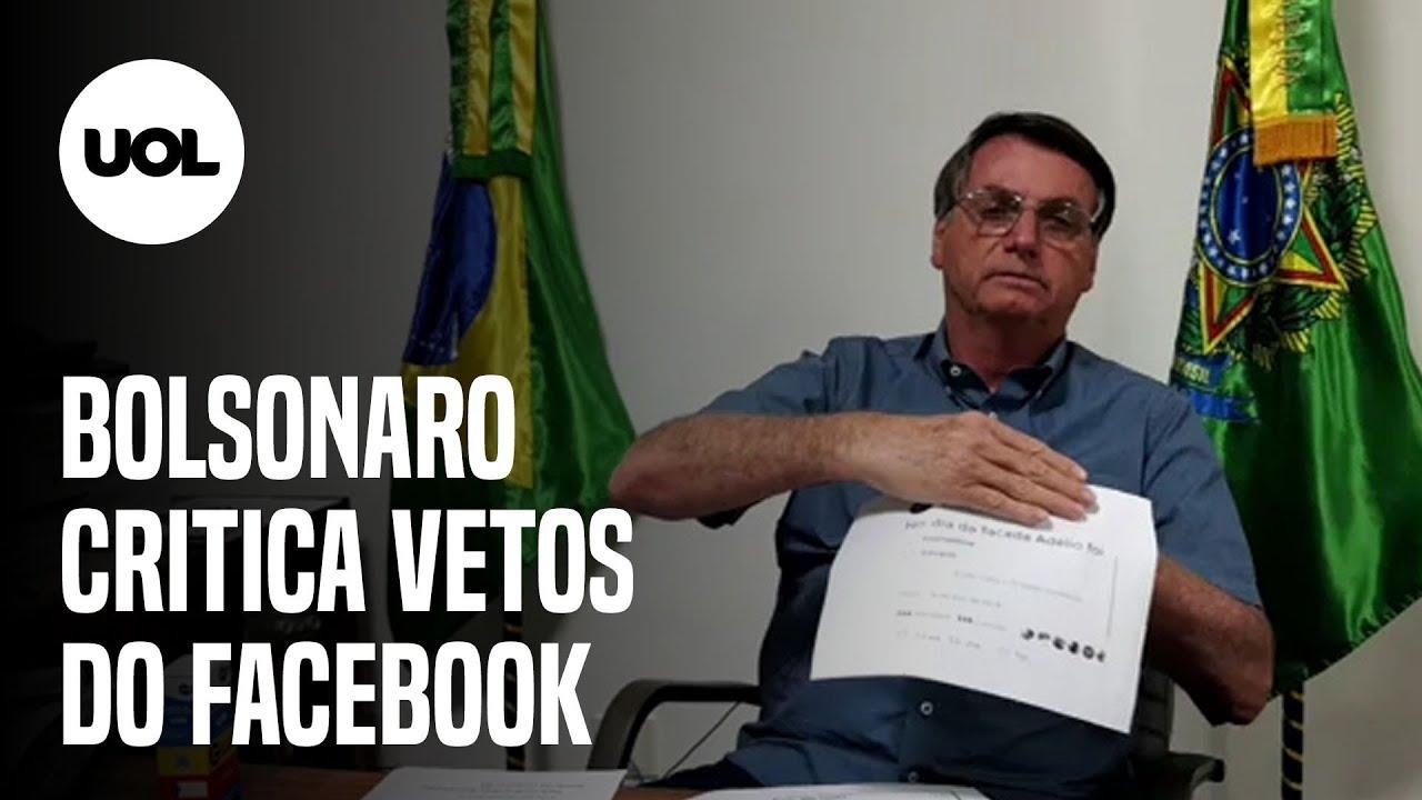 BOLSONARO SOBRE VETOS DO FACEBOOK: 'SOBROU PARA QUEM ESTÁ DO MEU LADO' - online