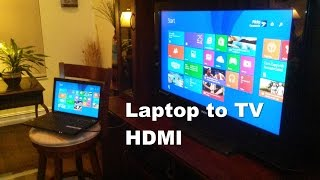 How to Connect Laptop to TV using HDMI -  Easy &  Fun