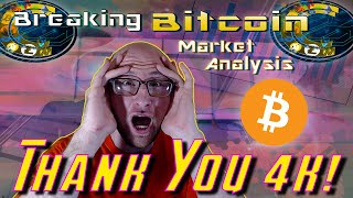 THE CALM BEFORE THE BITCOIN STORM! 4K SUBSCRIBERS STREAM! LIVE CRYPTOCURRENCY TECHNICAL ANALYSIS