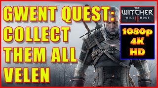 Witcher 3 - Gwent Cards Velen - Collect Them All - 4K Ultra HD