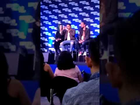 The Gifted stars Blair Redford & Emma Dumont hvfflondon 2018